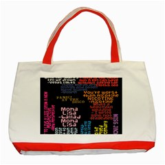 Panic At The Disco Northern Downpour Lyrics Metrolyrics Classic Tote Bag (Red)