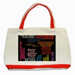 Panic At The Disco Northern Downpour Lyrics Metrolyrics Classic Tote Bag (Red) Front