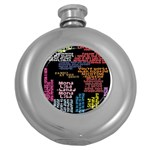 Panic At The Disco Northern Downpour Lyrics Metrolyrics Round Hip Flask (5 oz) Front