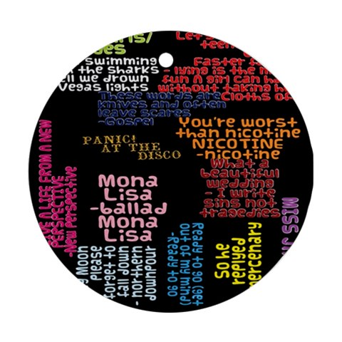 Panic At The Disco Northern Downpour Lyrics Metrolyrics Round Ornament (Two Sides)