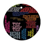 Panic At The Disco Northern Downpour Lyrics Metrolyrics Round Ornament (Two Sides)  Back