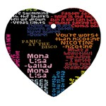 Panic At The Disco Northern Downpour Lyrics Metrolyrics Heart Ornament (2 Sides) Back