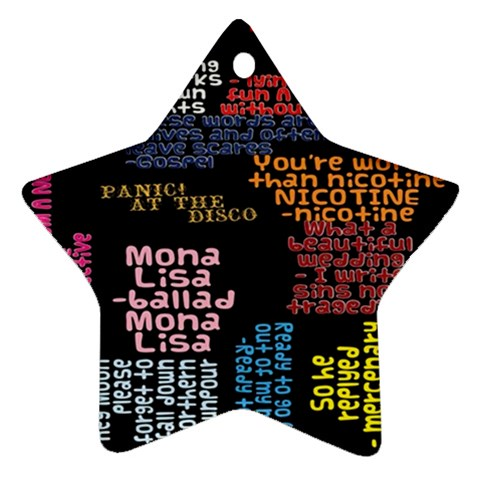 Panic At The Disco Northern Downpour Lyrics Metrolyrics Star Ornament (Two Sides)