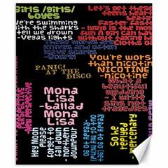 Panic At The Disco Northern Downpour Lyrics Metrolyrics Canvas 8  x 10