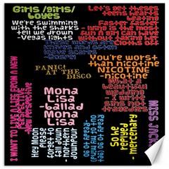 Panic At The Disco Northern Downpour Lyrics Metrolyrics Canvas 12  x 12