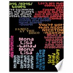 Panic At The Disco Northern Downpour Lyrics Metrolyrics Canvas 12  x 16   16 x12 Canvas - 1