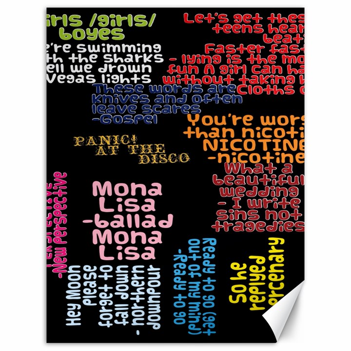 Panic At The Disco Northern Downpour Lyrics Metrolyrics Canvas 12  x 16