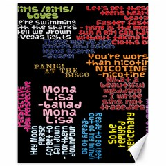 Panic At The Disco Northern Downpour Lyrics Metrolyrics Canvas 16  x 20