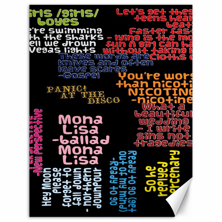 Panic At The Disco Northern Downpour Lyrics Metrolyrics Canvas 18  x 24