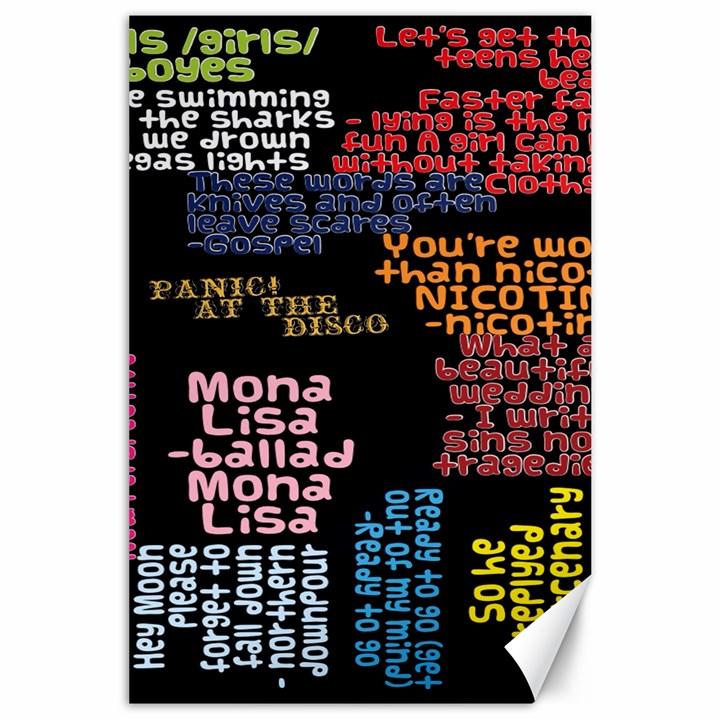 Panic At The Disco Northern Downpour Lyrics Metrolyrics Canvas 24  x 36