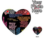Panic At The Disco Northern Downpour Lyrics Metrolyrics Playing Cards 54 (Heart)  Front - HeartJ