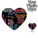 Panic At The Disco Northern Downpour Lyrics Metrolyrics Playing Cards 54 (Heart)  Front - Club7