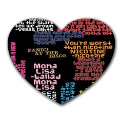 Panic At The Disco Northern Downpour Lyrics Metrolyrics Heart Mousepads