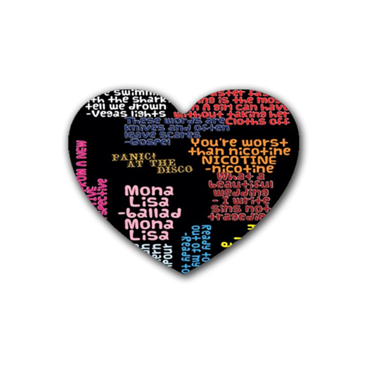 Panic At The Disco Northern Downpour Lyrics Metrolyrics Heart Coaster (4 pack)