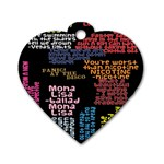 Panic At The Disco Northern Downpour Lyrics Metrolyrics Dog Tag Heart (One Side) Front
