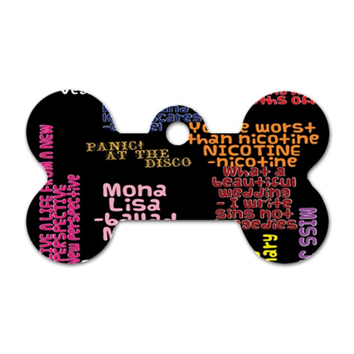 Panic At The Disco Northern Downpour Lyrics Metrolyrics Dog Tag Bone (One Side)