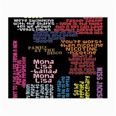 Panic At The Disco Northern Downpour Lyrics Metrolyrics Small Glasses Cloth (2-Side)