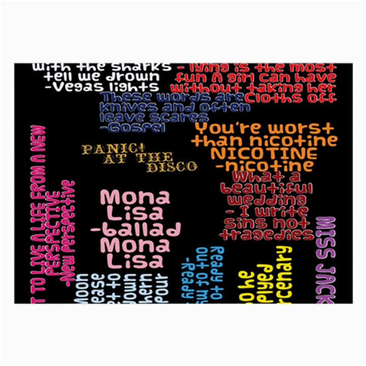 Panic At The Disco Northern Downpour Lyrics Metrolyrics Large Glasses Cloth (2-Side)