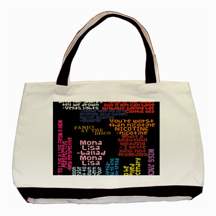 Panic At The Disco Northern Downpour Lyrics Metrolyrics Basic Tote Bag (Two Sides)