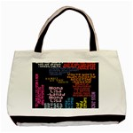 Panic At The Disco Northern Downpour Lyrics Metrolyrics Basic Tote Bag (Two Sides) Back