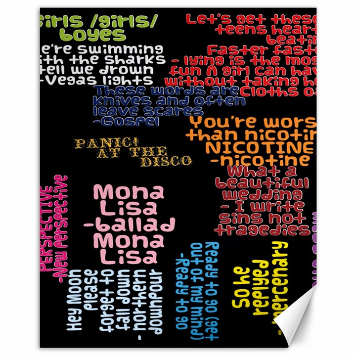 Panic At The Disco Northern Downpour Lyrics Metrolyrics Canvas 11  x 14