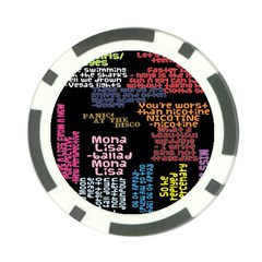 Panic At The Disco Northern Downpour Lyrics Metrolyrics Poker Chip Card Guards