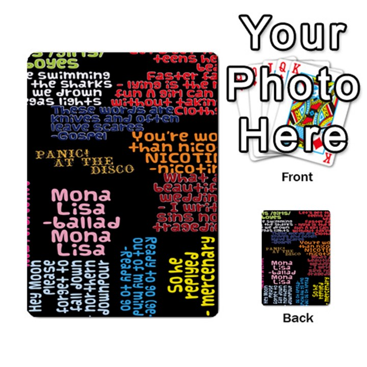 Panic At The Disco Northern Downpour Lyrics Metrolyrics Multi-purpose Cards (Rectangle)