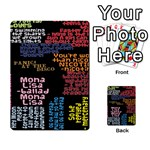 Panic At The Disco Northern Downpour Lyrics Metrolyrics Multi-purpose Cards (Rectangle)  Back 8