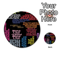 Panic At The Disco Northern Downpour Lyrics Metrolyrics Multi Purpose Cards (round)