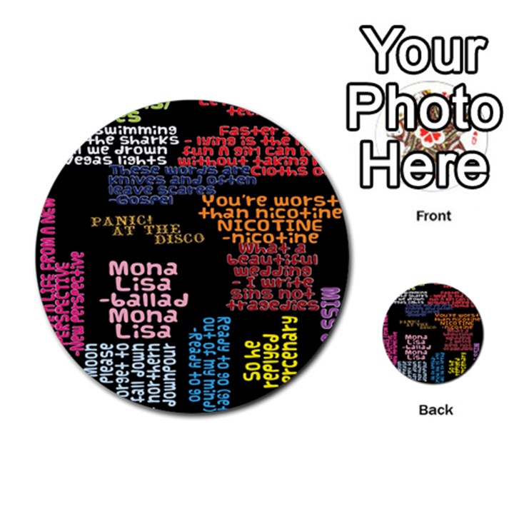 Panic At The Disco Northern Downpour Lyrics Metrolyrics Multi-purpose Cards (Round)