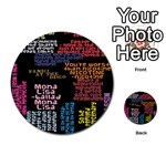 Panic At The Disco Northern Downpour Lyrics Metrolyrics Multi-purpose Cards (Round)  Back 8