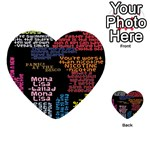 Panic At The Disco Northern Downpour Lyrics Metrolyrics Multi-purpose Cards (Heart)  Front 1
