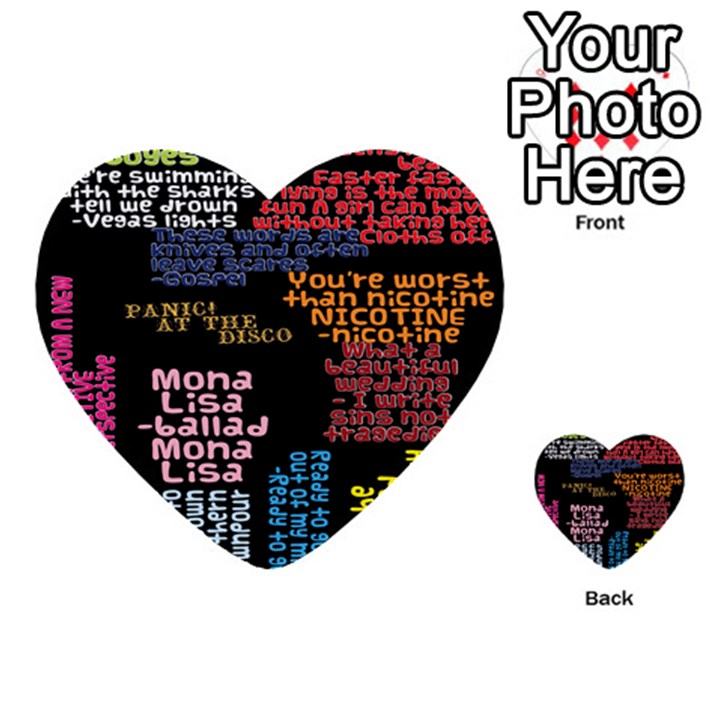 Panic At The Disco Northern Downpour Lyrics Metrolyrics Multi-purpose Cards (Heart)