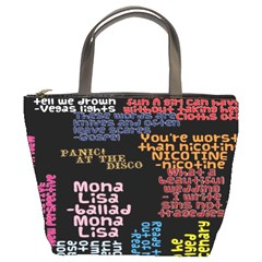 Panic At The Disco Northern Downpour Lyrics Metrolyrics Bucket Bags
