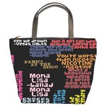 Panic At The Disco Northern Downpour Lyrics Metrolyrics Bucket Bags Front