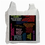 Panic At The Disco Northern Downpour Lyrics Metrolyrics Recycle Bag (Two Side)  Front
