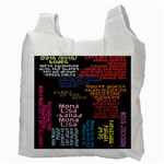Panic At The Disco Northern Downpour Lyrics Metrolyrics Recycle Bag (Two Side)  Back