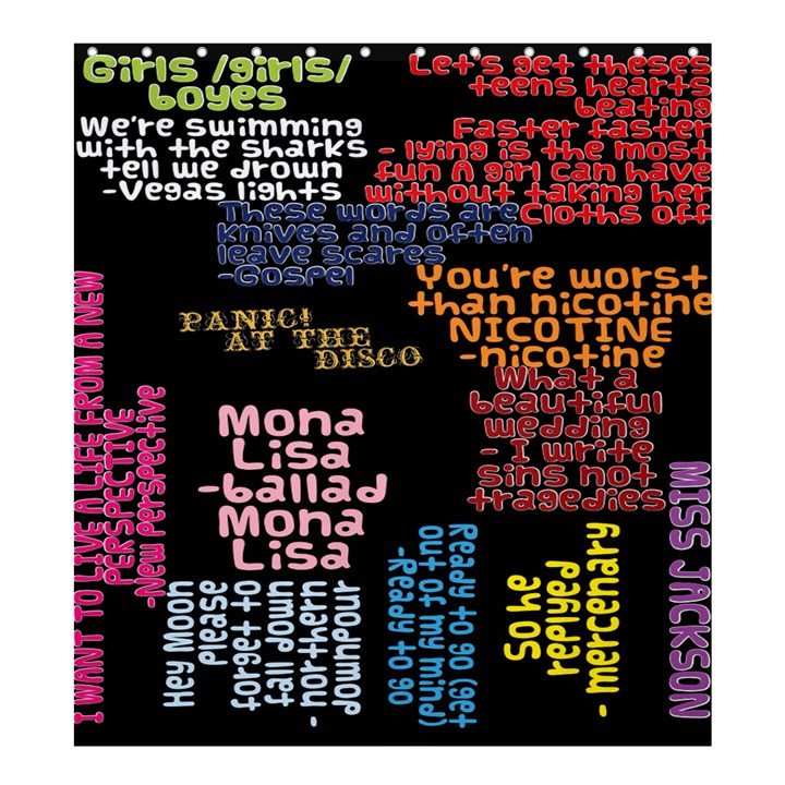 Panic At The Disco Northern Downpour Lyrics Metrolyrics Shower Curtain 66  x 72  (Large)