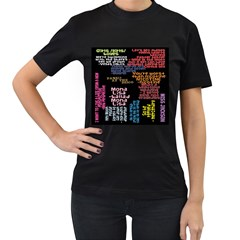Panic At The Disco Northern Downpour Lyrics Metrolyrics Women s T-Shirt (Black)