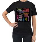Panic At The Disco Northern Downpour Lyrics Metrolyrics Women s T-Shirt (Black) Front