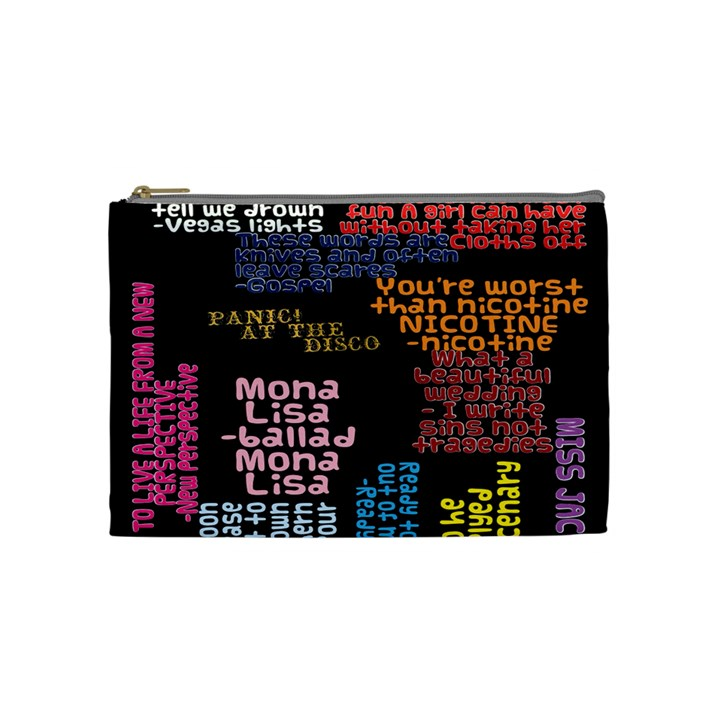 Panic At The Disco Northern Downpour Lyrics Metrolyrics Cosmetic Bag (Medium)
