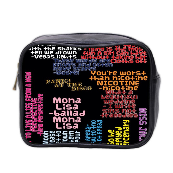Panic At The Disco Northern Downpour Lyrics Metrolyrics Mini Toiletries Bag 2-Side