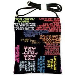 Panic At The Disco Northern Downpour Lyrics Metrolyrics Shoulder Sling Bags