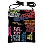 Panic At The Disco Northern Downpour Lyrics Metrolyrics Shoulder Sling Bags Front