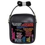 Panic At The Disco Northern Downpour Lyrics Metrolyrics Girls Sling Bags Front