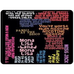 Panic At The Disco Northern Downpour Lyrics Metrolyrics Fleece Blanket (Large)