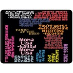 Panic At The Disco Northern Downpour Lyrics Metrolyrics Fleece Blanket (Large)  80 x60 Blanket Front