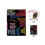Panic At The Disco Northern Downpour Lyrics Metrolyrics Playing Cards (Mini)  Back