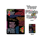 Panic At The Disco Northern Downpour Lyrics Metrolyrics Playing Cards 54 (Mini)  Front - Heart3