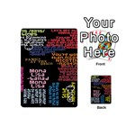 Panic At The Disco Northern Downpour Lyrics Metrolyrics Playing Cards 54 (Mini)  Front - Club2
